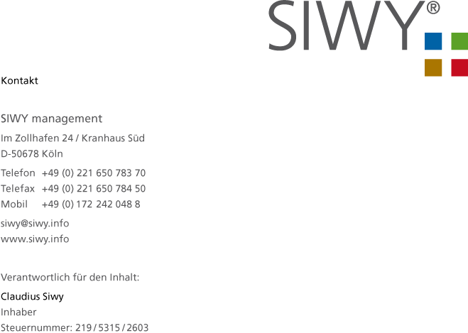 Web business card SIWY management